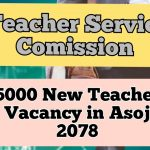 TSC is Advertising About 15,000 Teachers New Vacancy in Asoj 2078